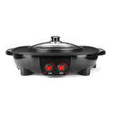 Electric Hotpot Oven 220V 1800W Smokeless Barbecue Pan Grill Machine for Kitchen