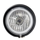 12 فولت H4 35 واط LED دراجة نارية جولة الجبهة العلوي مرحبا / منخفضة الشعاع drl العالمي خمر مصباح مقهى المتسابق سكوتر