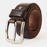 Men Genuine Leather 105/110/115/120/125/130cm Retro Wild Pin Buckle Jeans Suits First Layer Cowhide Belt