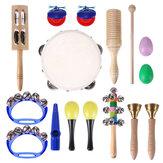 Brinquedos de ritmo NASUM 15PCS instrumentos musicais definido para crianças