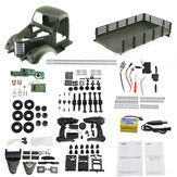 JJRC Q60 Kit 1/16 2.4G 6WD Off-Road Caminhão Militar Rastreador RC Car