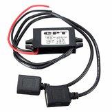 5 stks 3A 15 W DC 12 V Naar DC 5V Dual USB Oplader Adapter Converter Module