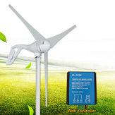 100W 12V 24V 3 Blades Wind Turbine Generator White + Wind Controller