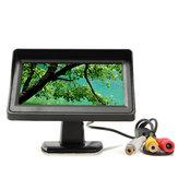 4.3 pulgadas de coche de vista trasera Kit TFT LCD monitor IR IR de inversión de la cámara para el autobús de camiones