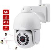 SD25W 5MP 5 x Zoom óptico PTZ WiFi IP Cámara Impermeable Seguimiento automático IR 40M H.265 Inalámbrico Wifi 2MP IP Cámara Detección humana Audio Seguridad del hogar