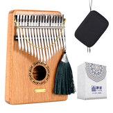 LingTing LT-K17G 17 kláves Kalimbas Mbira Palcový klavír Masivní dřevo Dárkové hračky