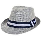 Uomo Unisex Donna Straw Jazz Cap Estate Respirabile Cappello Panama Visor Outdoor Sunshade