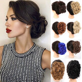 30 Colors Big Steel Fork Hair Ring Wig Updo Cover Fluffy Chemical Fiber Wig Piece