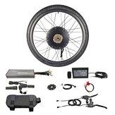 RISUNMOTOR Erőteljes, kefe nélküli hajtóműves kerékagy-motor 48V 1500W első kerék elektromos kerékpár barkácscsomagolás LCD3 kijelzővel