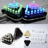Geekcreit®DIYタッチコントロールRGBフルカラー5MM LED三角ピラミッドキット