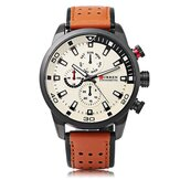CURREN 8250 Montre de luxe en cuir Bande Casual Men Watch