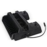 TP4-882 ABS Verticale standaard Controller Laadstation Game-opslag voor PS4 / Slim / Pro met 3 koelventilatoren