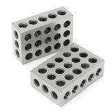 Machifit 2db 1x2x3 hüvelykes blokkok 23 furatok párhuzamos szorító marószerszám precíziós 0,0001 hüvelyk