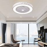 Smart Ceiling Fan with Remote Control Cell Phone Wi-Fi Indoor Home Decor Ceiling Fan with Light Modern Lighting Circular Lamp