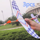 3 PCS Elastic Rubber Band Powered DIY Foam Plane Toy Kit Aircraft Model Educational Toy