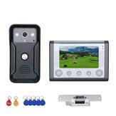 Эннио 7 дюймовый цветной видеодомофон RFID Система с HD дверной звонок 1000TVL камера с электрическим приводом Замок