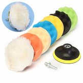 Drillpro 8Pcs 7 Inch Sponge Polishing/Buffing Pad Kit For Car Polisher