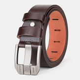 Men Genuine Leather 110/115/120/125cm Square Pin Buckle Wild Casual Jeans Suits Cowhide Belt