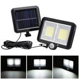 3 Modus 108 Lampenperlen COB Split IP65 Solarladelampe Infrarot Sensor für den menschlichen Körper Geteilte Wandbehang Garagenbeleuchtung