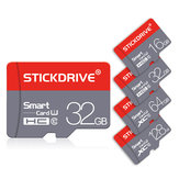 StickDrive Waterproof 8GB 16GB 32GB 64GB 128GB Class 10 High Speed Max 80Mb/s TF Memory Card With Card Adapter For Mobile Phone Tablet GPS Camera