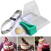 High Heel Sko Kit Pan Silicone Fondant Mould Bryllupskage Dekorere Skabelon Mould