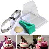 High Heel Shoe Kit Pan Silicone Fondant Mould Wedding Cake Decorating Template Mold