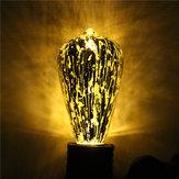 E27 ST64 5W Storm Silvering Vintage Antique Edison Filament COB Lampa LED Żarówka 85-265V