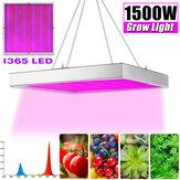 1500W LED Aluminum Grow Light Kits Full Spectrum For indoor Plants Home Garden