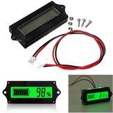 3pcs GY-6 Y6 12V 24V 36V 48V ácido de plomo Batería 2-15S de litio Batería universal ajustable 6-65V pantalla verde Impermeable LCD Capacidad Pantalla Tablero indicador voltímetro digital