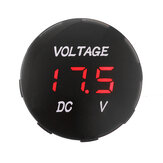 5V-48V Voltage Meter LED Digital Voltmeter Battery Gauge For Car Motorcycle
