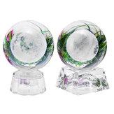 Bola de cristal lunar con efecto luminoso Base Grabado 3D Colorful Adornos Artesanías Decoraciones de escritorio