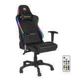 BlitzWolf® BW-GC8-gamestoel met 7 RGB-lichteffect 160 ° max. Verstelbare 2D-verstelbare armsteun voor thuiskantoor