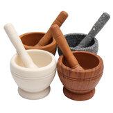 Resina Juego de mortero y mortero Ajo Hierbas Especias Mezcla Molinillo Trituradora Cocina Tazón Aplastante herramientas
