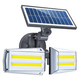 42LED/80COB Solar Wall Lamp Microwave Human Induction Double Rotate Head Waterproof Solar Street Lamp
