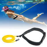 3/4x6x9m Yellow Swimming Resistance Bands Swim Training Belts Harness Static Swimming Exercise