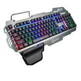 لوحة المفاتيح LED لوحة مفاتيح الألعاب الخلفية مع الشعور الميكانيكي 104 مفاتيح ضد للماء مواد حامل لوحة المفاتيح لـ الكمبيوتر Gamer Home Office