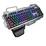 Keyboard LED Backlight Gaming Keyboard with Mechanical Feeling 104 Keys Waterproof Material Keyboard Holder for PC Gamer Home Office
