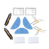 Substituições de 13 unidades para peças do aspirador de pó LIECTROUX C30B Acessórios Escovas principais * 2 escovas laterais * 4 filtros HEPA * 2 filtros primários * 2 roupas de esfregão * 3