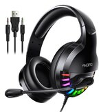 Bakeey Q2 USB 3,5 mm AUX com fio fone de ouvido para jogos Over-Ear Surround Bass HD Voice Low Loss RGB Light Headphone com microfone