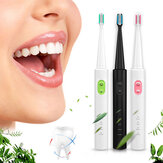 Travel Rechargeable Ultrasonic Electric Toothbrush Waterproof 3 Cleaning Mode Teeth Clean+ 4 Heads