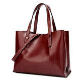 KvinderPULæderCasualHåndtaskeStor Kapacitet Tote Bag