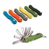 AOTDDOR® Aluminium Doppelte Offene Schlüssel Clip DIY Schlüsselbund Lager EDC Werkzeug