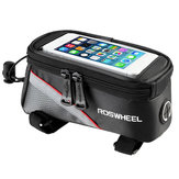 Roswheel Bike Bicycle Frame Handlebar Bag Touch Screen Phone Bag For iPhone 7/7 Plus Samsung