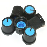 30 Stks Blauw Plastic Voor Rotary Taper Potentiometer Hole 6mm Knop
