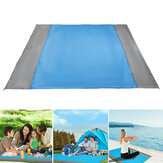 82.7x78.7inch Beach Mat Waterproof Sand Proof Pocket Blanket Picnic Mat Camping Travel Hiking