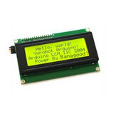 IIC / I2C 2004 204 20 x 4 Character LCD Display Module Yellow Green 5V