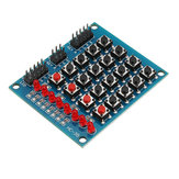 5pcs 8 LED 4x4 Push Button Switch 16 Keys Matrix Independent Keyboard Module For AVR ARM STM32