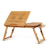 Mesa pequena ajustável dobrável portátil computador notebook mesa cama com gaveta