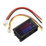 جهاز قياس الفولتميتر المصغر رقمي تيار منتظم100V 10A لوحة أمبير فولت الجهد الحالي فاحص 0.56