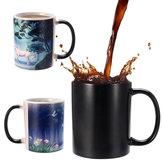 350mlNovedadUnicornioiocolordecalor que cambia tazas de café Taza de la oficina en casa embroma los regalos